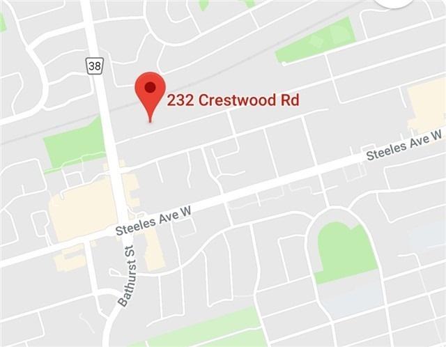 232 Crestwood Rd | Crestwood-Springfarm-Yorkhill | Vaughan | L4J1A9 | MLS N4139898
