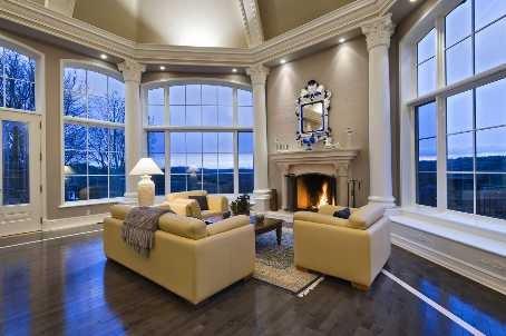 几款优雅别墅客厅效果图